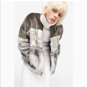 Zara fur jacket